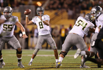 Freshman quarterback Marcus Mariota has been instrumental in leading the Ducks to an 8-0 record.