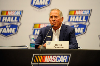 David Pearson at his Hall of Fame Induction