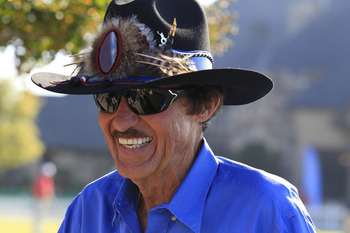 Richard Petty in his famous hat and shades