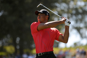Red was Tiger Woods' victory color during his prime.