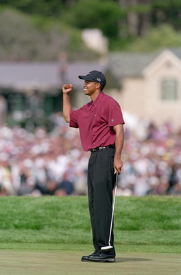 Good things were happening when Tiger pumped his fist.