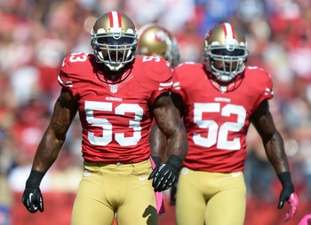 Navorro Bowman and Patrick Willis anchor the tough 49er defense
