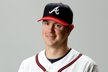 LAKE BUENA VISTA, FL - FEBRUARY 29: Todd Cunningham of the Atlanta Braves poses for a portrait during photo day at Champion Stadium on February 29, 2012 in Lake Buena Vista, Florida.  (Photo by Matthew Stockman/Getty Images)