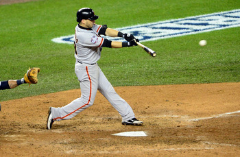 Marco Scutaro's single drives in the winning run in Game 4