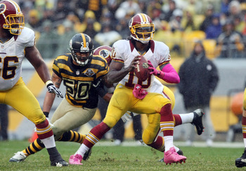 Larry Foote looks to sack Robert Griffin III