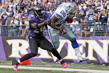 Ed Reed makes a tackle versus Cowboys