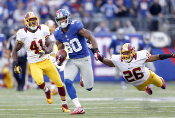Victor Cruz is off to the races against the Redskins