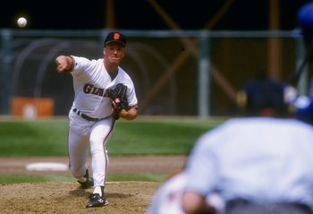 Bill Swift pitching at Candlestick Park