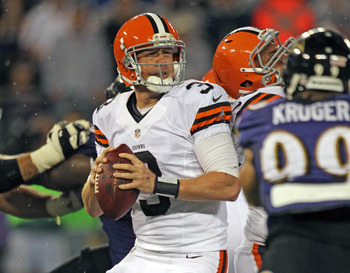 Brandon Weeden in his first game against the Ravens