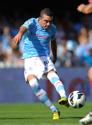 VIGO, SPAIN - SEPTEMBER 01:  Iago Aspas of RC Celta de Vigo in action during the La Liga match between RC Celta de Vigo and CA Osasuna at Estadio Balaidos on September 1, 2012 in Vigo, Spain.  (Photo by Denis Doyle/Getty Images)