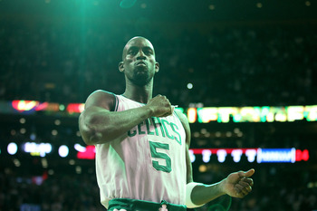 Kevin Garnett signed a three-year, $34 million contract back in January.