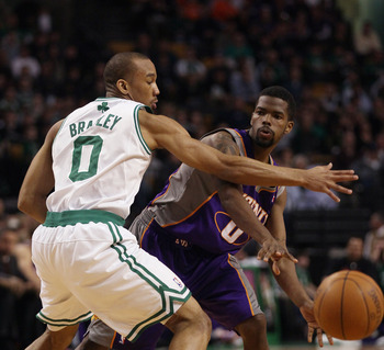 Avery Bradley (left) was a defensive force for the Celtics last season.
