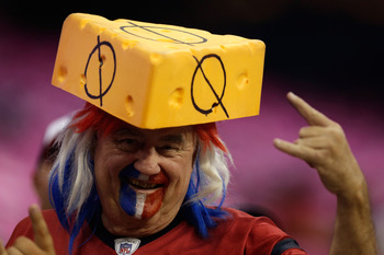 HOUSTON, TX - OCTOBER 14:  A Houston Texans fan looks on prior to the game against the Green Bay Packers at Reliant Stadium on October 14, 2012 in Houston, Texas.  (Photo by Scott Halleran/Getty Images)