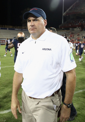 Head coach Rich Rodriguez
