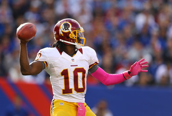 RG3 vs. Cam Newton will be entertaining. Anything could happen.