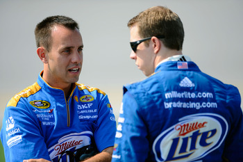Paul Wolfe (left) and Brad Keselowski are the gambling type.