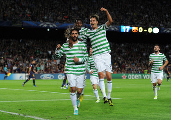 Georgios Samaras Scoring the First Goal for Celtic FC