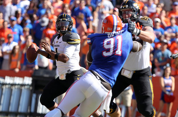 The Gator defense has gotten good pressure on Missouri.