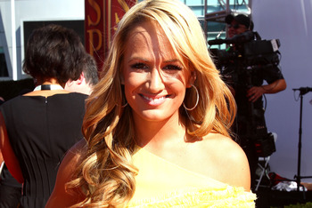 LOS ANGELES, CA - JULY 14:  ESPN talent Jenn Brown arrives at the 2010 ESPY Awards at Nokia Theatre L.A. Live on July 14, 2010 in Los Angeles, California.  (Photo by Alexandra Wyman/Getty Images for ESPY)