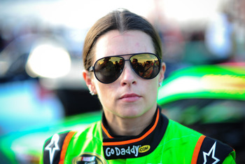 August 31, 2012; Hampton, GA, USA; NASCAR Sprint Cup Series driver Danica Patrick during qualifying for the AdvoCare 500 at Atlanta Motor Speedway. Mandatory Credit: Kevin Liles-US PRESSWIRE