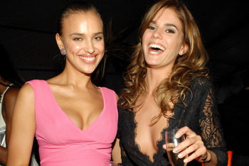Irina Shaykhlislamova and Yesica Toscanini during 2007 Sports Illustrated Swimsuit Issue Party  - Inside at Pacific Design Center in Los Angeles, California, United States. (Photo by J.Sciulli/WireImage for Bragman Nyman Cafarelli)