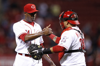 Cincinnati Reds closer Aroldis Chapman helped lead Dusty Baker's team into the playoffs in 2012.