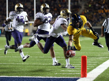 Chris Harper's 14-yard reverse was Cal's only red-zone TD