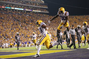 Jarvis Landry caught a TD pass from Mettenberger—the only one for LSU.