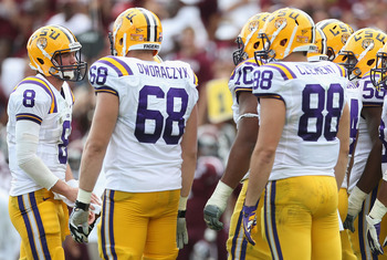 The LSU offensive line should be credited for the offenses success.