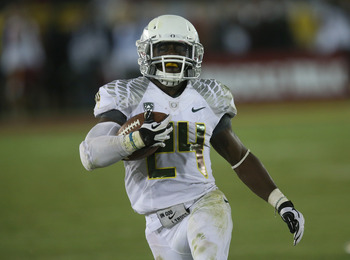 Kenjon Barner's 22-yard TD in the fourth quarter sealed the Ducks' win.