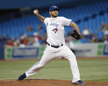 Right-handed starter option Carlos Villanueva