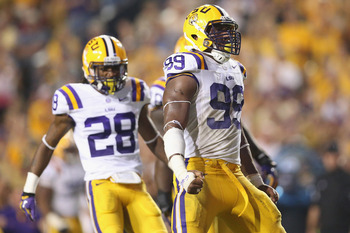 Sam Montgomery had LSU's only sack against Alabama.