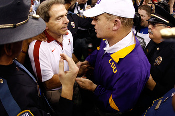 Les Miles couldn't best Nick Saban for a third-straight time in the regular season.