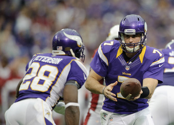 Christian Ponder has improved, and Adrian Peterson has been, well, Adrian Peterson.