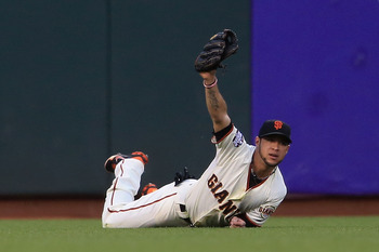 Gregor Blanco made several great defensive plays in the 2012 postseason