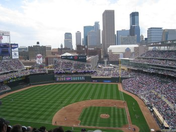 Thank god the Metrodome is gone and beautiful Target Field has replaced it