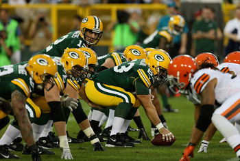 The Packers' offensive line has been better, but it faces some very tough defensive lines to end the season.
