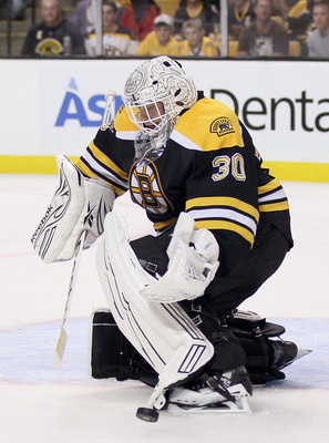 Tim Thomas of the Boston Bruins.