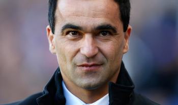 WIGAN, ENGLAND - OCTOBER 27:  Manager Roberto Martinez of Wigan before the Barclays Premier League match between Wigan Athletic and West Ham United at the DW Stadium on October 27, 2012 in Wigan, England. (Photo by Paul Thomas/Getty Images)