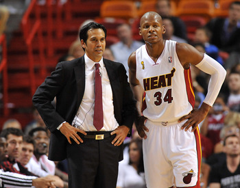 So far, Ray Allen and Erik Spoelstra appear on the same page.