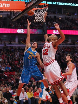 Taj Gibson continues to alter shots near the rim.
