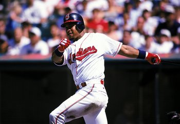 Manny Ramirez had 44 home runs and 165 RBI in 1999.