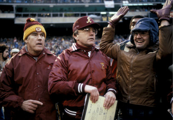 Joe Gibbs led the Redskins to a 14-2 record in the regular season.