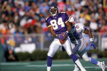 Randy Moss led the Vikings with 1,313 yards in 1998.