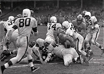 The Rams in the 1950 NFL Championship Game. http://secure.plaind.com
