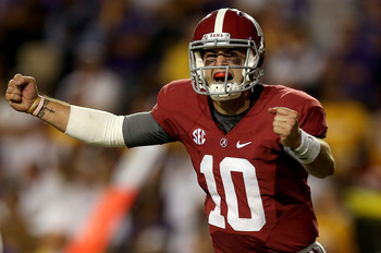 McCarron has led the Crimson Tide to a 9-0 record thus far in 2012.
