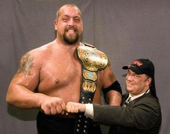 Big Show with Paul Heyman as ECW champion. Photo: WWE Mafia