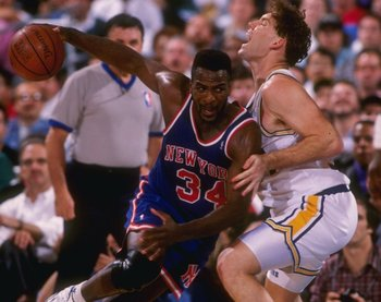 Charles Oakley became the enforcer for the Knicks after a 1988 trade with the Bulls.