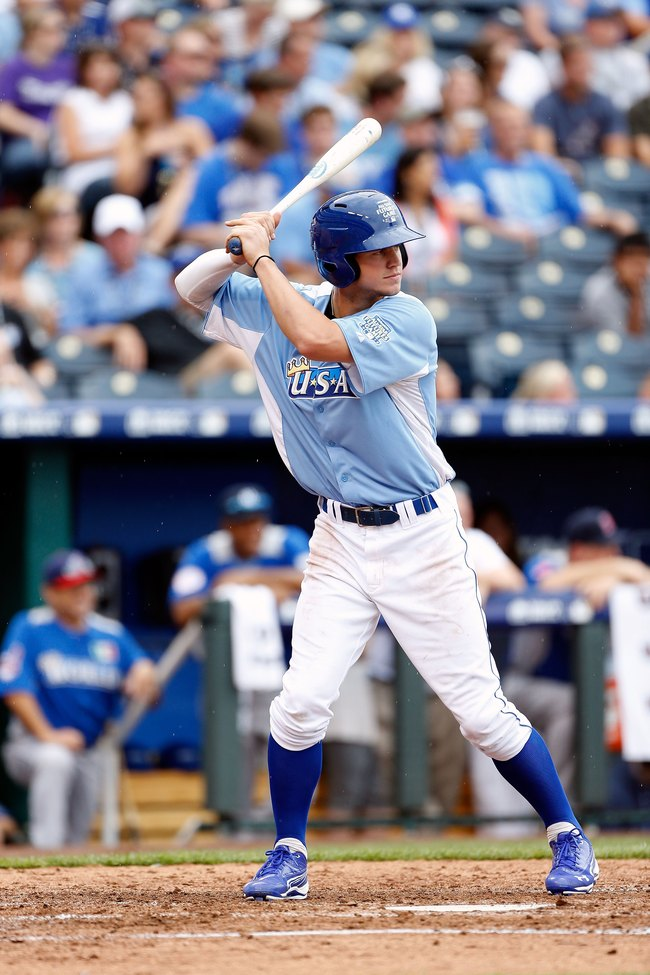 KANSAS CITY, MO - JULY 08:  Wil Myers of the Kansas City Royals in action during the SiriusXM All-Star Futures Game at Kauffman Stadium on July 8, 2012 in Kansas City, Missouri.  (Photo by Jamie Squire/Getty Images)