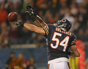 Urlacher had a pick six in Week 9.